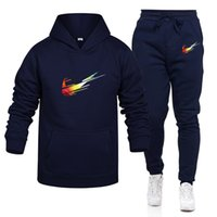Wholesale tracksuit set sport woman resale online - Free New Mens Designers Tracksuits Autumn Brands women sweatsuits Jogger men hoodie mens joggers Pants Sets Sporting Suit