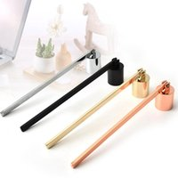 Wholesale easy bell resale online - Stainless Steel Candle Flame Snuffer Wick Trimmer Tool Multi Colour Put Out Fire On Bell Easy To Use DHE1386