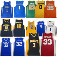 Wholesale durant gold for sale - Group buy NCAA LeBron James North Heels Jersey Bryant Durant Dwyane Wade Michael Ja Allen Morant Iverson Harden Westbrook Basketball Jerseys z15