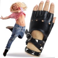 Wholesale ladies leather glove resale online - nnAkt Dancing leather leather ladies cool punk spring summer nightclub Gloves and gloves performance pole dance Lady Ga fashion hand