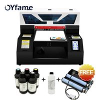 Wholesale uv photo for sale - Group buy OYfame Automatic A4 UV Flatbed Printer A4 UV Printer for Phone Case Metal Acrylic TPUbottle Printing Machine With Free Ink