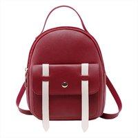 Wholesale kids girl fashion hand bag resale online - Women Mini Backpack Shoulder Bag Brand Fashion Hand bags Children Back Pack Solid Versatile for Teenage Little Girls kids