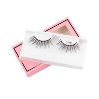 Wholesale artificial eye lashes resale online - Natural Long Eyelash Extension Handmade Eye Makeup Tool D Soft Artificial Mink False Eyelash Small Bunch Fluffy Cross