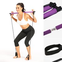 Wholesale pilates bands exercises for sale - Group buy Pilates Exercise Stick Toning Bar Fitness Home Women Yoga Gym Workout Body Abdominal Resistance Bands Rope Puller Drop shipping