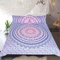 Wholesale butterfly bedding sets for sale - Group buy Mandala Duvet Cover Set Lacy Pastel Floral with Butterfly and Lotus Meditation Design Decorative Bedding Set
