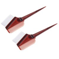 Wholesale piece weave bleach dye resale online - 2 Pieces Hair Coloring Brush Comb for Hair Dye Weaving Comb Bleach Salon Tint Brush Highlighting Hairdressing Tool
