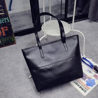 Wholesale korean weave handbags resale online - 2020 New Shoulder Bag Women s Bag Korean Pure Color Handbag Fashion Casual Woven Ladies