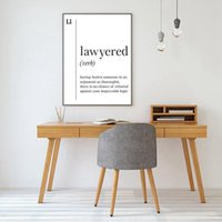 Wholesale White Lawyer Prints Scandinavian Canvas Gift Office Wall Wall Black Decor Picture Funny Poster Art Lawyered Painting Definition bbyqa