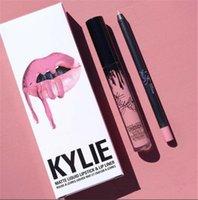 Wholesale kylie jenner lipsticks for sale - Group buy 41 colors KYLIE JENNER matte lip gloss hot lip liner fashion lipstick lipgloss lipliner Lipkit Velvet Makeup liner