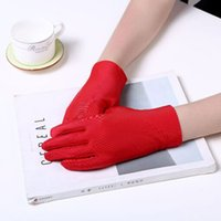 Wholesale wrist protection gloves resale online - XEONGKVI European Pure Color Uv Protection Gloves Summer Driving Bicycling Etiquette Gloves Women Wrist Mittens