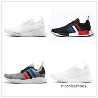 Wholesale glitch pack for sale - Group buy TOP NMD R1 Triple Solar Red Glitch pack solid grey Camo Onix Vapour Pink Clear Blue Japan CLASSICAL men women running shoes sneakers