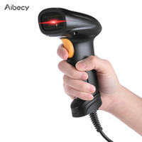Wholesale readers glasses for sale - Group buy Aibecy Handheld D Barcode Scanner Bar Code Reader Barcode Receiver Support Auto Manual Scanning Bi directional Optical Glass