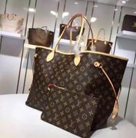 Wholesale pu designer bags shoulder resale online - 2pcs set high qulity classic Designer womens handbags flower ladies composite tote PU leather clutch shoulder bags female purse