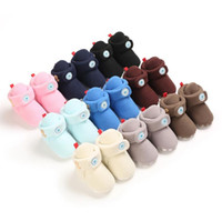 Wholesale soft sole shoes for infants resale online - Baby Unisex Cozy Cotton Booties with Grippers for Newborns and Infants Soft Sole Boots Socks Toddler First Walker Crib Shoes M
