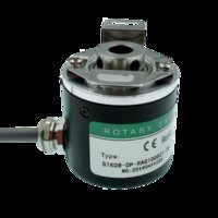 rotary shaft encoder 2021 - Hollow shaft photoelectric rotary encoder ZKP3808 600 pulse 600 line 2500 pulse 2500 line ABZ three-phase 5-24V