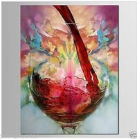 Wholesale abstract art paintings decor red for sale - Group buy Still Life Red Wine Abstract Home Decoration Handpainted HD Print Oil Painting On Canvas Wall Art Canvas Pictures Wall Decor