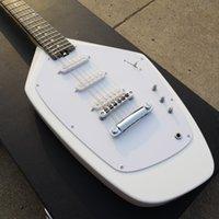 Wholesale 12 string china guitars resale online - 12 String Irregular Guitar Gemstone White Color Electric guitar Chrome Hardware China Made Guitars