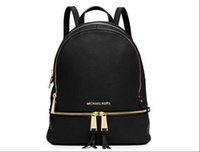 Wholesale male female bags resale online - Luxury MICHAEL KORS MK Women Student School Backpack Mens Backpack Double Shoulder Bags Male Female Leather Shoulder Bag