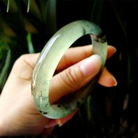 Wholesale jadeite carving resale online - Carved Natural Chalcedony Chinese Ink Style Jadeite Bangle Warm Texture Fashion Lady Healthy Jewelry