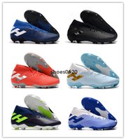 Wholesale youth high top soccer shoes resale online - Nemeziz FG soccer shoes sneakers football cleats high top boots youth kids men women trainers cleat boot sneaker messi trainer with box