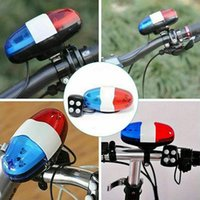 Wholesale car bell for sale - Group buy Bicycle Bell Car Light Electronic Horn Siren Bike Bell Headlamp LED Trumpet Bicycle Light Cycling Accessories
