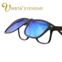 Wholesale clip sunglasses resale online - IVSTA Clip On Sunglasses Men Flip Up Clips Lenses Driving Sun Glasses Polarized Women myopia Night Vision Flip Up