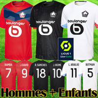 Wholesale LOSC Lille New soccer jerseys DAVID FONTE BAMBA YAZICI football shirt Lille Olympique JIKONE maillot Adult Kids Kit