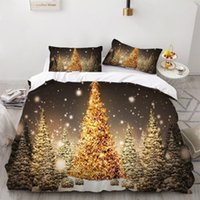 Wholesale 3d bedding set christmas for sale - Group buy 2 Pieces D Snowflake Christmas Tree Bedding Set Children And Adolescents Duvet Cover Set Fashion Can Be Customized Home T