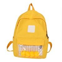 Wholesale small bookbags resale online - Casual Clear Waterproof Womens Backpack Harajuku Travel Schoolbags Cute Small Duck Student Back Pack Teen Girls Bookbags LR1