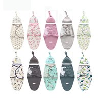 Wholesale baby bags for sleeping for sale - Group buy 2 Pieces Set Newborn Swaddle Wrap Hat Cotton Baby Receiving Blanket Bedding Cartoon Cute Infant Sleeping Bag For Months