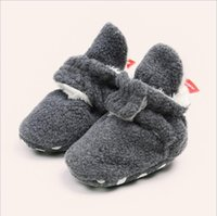 Wholesale baby girl crochet cotton booties for sale - Group buy Cotton Baby Booties with Grippers Soft Sole Stay On Baby Shoes Baby Slippers Winter Warm Fleece Cozy Socks Shoes Months