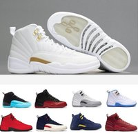 Wholesale taxi black box resale online - High Red Box Quality With s Gym WNTR CNY Basketball Shoes Men Playoff Taxi retro Cherry Black Nylon Sports Sneakers GVY