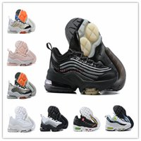 Wholesale 95 shoes resale online - 2020 designer running shoes Mens Womens Classic Black Red White Sports Trainer s schuhe Surface Cushion Breathable Sports Sneakers