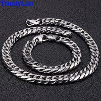 Wholesale mens chunky chain necklace for sale - Group buy Hip Hop Necklace For Men MM Wide Whip Chain Mens Bracelets Stainless Steel Big Chunky Minimalist Rapper Chain Necklaces