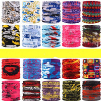 Wholesale bike headbands resale online - Magic Scarf Bandana Outdoor Sport Bike Bicycle Riding Variety Magic Headband Head Scarf Scarves Face Bandanas Lady Prevent bask Scarf DHF84