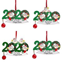 Wholesale flat christmas ornaments for sale - Group buy 2020 DIY Name Blessings Snowman Christmas Tree Hanging Pendant face Mask New Christmas Decorations Santa Claus Ornaments flat design w