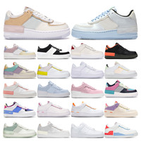 zapatos deportivos azules al por mayor-nike air force 1 Classic Black White Dunk Women Casual Shoes red one Skateboard High Low Cut Entrenadores deportivos Wheaters tamaño 36-45