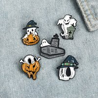 Wholesale free lapel pins for sale - Group buy Halloween Enamel Pin Styles Cartoon Pumpkin Ghost Skull Lapel Brooches Pins Punk Halloween Brooch Badges for Women Jewelry Free DHL LQQ83