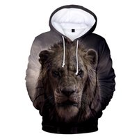 Discount lion king hoodies sweatshirt Lion King 3D Hoodie Men's and Women's Fashion Casual Sweatshirt Children Lion King Pullover Autumn 3D Hoody Boy and Girl Hoodies