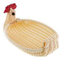 Wholesale bread types resale online - Personality Creative Rattan Bread Basket Chicken Type Plastic Storage Basket