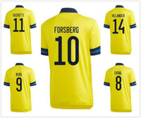 Wholesale thailand custom jersey resale online - Sweden Customized IBRAHIMOVIC BERG Thailand Quality Soccer Jerseys Shirts Custom FORSBERG Dropping Accepted yakuda best sport