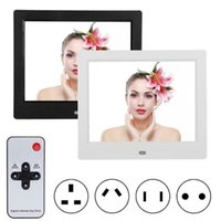 Wholesale photo frame digital for sale - Group buy 8 Inch LED Digital Photo Frame Electronic Picture Frame with Remote Control Music and Video Playing Alarm Clock