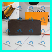 designer-brieftasche männer groihandel-LV mens wallet  Women Zippy Wallets womens wallet mens wallet luxurys designers wallet Geldbörsen portefeuille homme Frauen Männer Ledertasche Mode-Taschen Luxus handb gießen