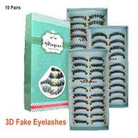 Wholesale shortest false eyelashes resale online - 3D False Eyelashes Pairs Natural Look Handmade Short Soft Reusable Eyelashes Natural Wispy Fluffy Lashes DHL Free