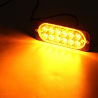 Wholesale led beacons bars resale online - 2 Amber LED Strobe Light Bar Hazard Beacon Flash Warning Lamps Replacement