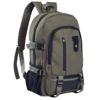 Wholesale military laptop backpacks resale online - H25 Men s Military Canvas Backpack Zipper Rucksacks Laptop Travel Shoulder Mochila Notebook Schoolbags College School Bags