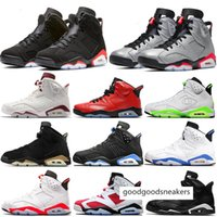 Wholesale champion sneakers resale online - 6 Vi Reflective Jumpman Reflections of a Champion s Gs Black Infrared Womens Basketball Shoes Mens Trainers Dmp Unc High Sneakers