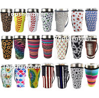 Wholesale neoprene water bottle sleeve for sale - Group buy 21 Style baseball Reusable Coffee Cup Sleeve Cactus Water Bottle Cover Neoprene Insulated Sleeve Cover Case Bags Pouch for oz Tumbler Cups