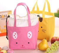 Wholesale cooler bags for sale - Group buy 2017 Korean Style Canvas Tote Cooler Bags Cartoon Cute Cooler Bag Lunch Insulated Bag Waterproof Cooler