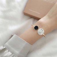 Wholesale marble bracelet resale online - imixlot Double Marble Asymmetrical Round Gold Silver Color Wrist Bracelet Styles Bangle Jewellery For Women Female Anklet